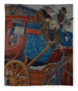 Wells Fargo Stagecoach Fleece Blanket