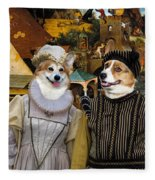 Welsh Corgi Pembroke Art Canvas Print - The Dutch Proverbs Fleece Blanket