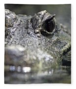 West African Dwarf Crocodile - Captive 03 Fleece Blanket