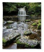 West Burton Falls, Yorkshire, England Fleece Blanket