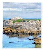West Coast Seascape 3 Fleece Blanket