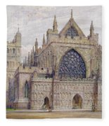 West Front, Exeter Cathedral Fleece Blanket