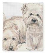 West Highland White Terrier Puppies Fleece Blanket