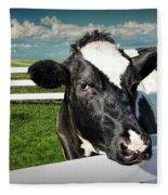 West Michigan Dairy Cow Fleece Blanket
