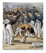 West Point Cartoon, 1880 Fleece Blanket