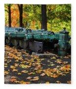 West Point Fall Leaves Fleece Blanket