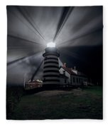 West Quoddy Head Lighthouse History And Facts Fleece Blanket