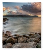 West Shore Sunset Fleece Blanket