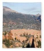 West Springs And Distant Garden Of The Gods Fleece Blanket