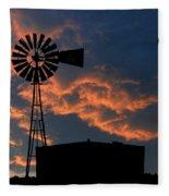 West Texas Cattle Tank Fleece Blanket