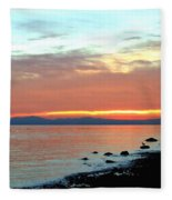 West Vancouver Sunset Fleece Blanket