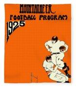 West Virginia 1925 Football Program Fleece Blanket