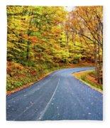 West Virginia Curves - In A Yellow Wood - Paint Fleece Blanket