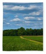 West Virginia Field  Fleece Blanket