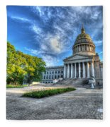 West Virginia State Capitol Building No. 2 Fleece Blanket