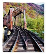 West Virginia Trestle Fleece Blanket