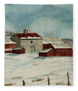 West Winfield Farm Fleece Blanket