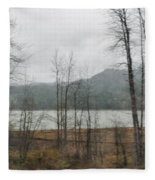 Western Cascade Foothills Fleece Blanket
