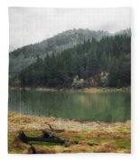 Western Cascades River Fleece Blanket