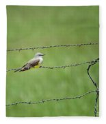 Western Kingbird Fleece Blanket