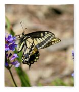 Western Tiger Swallowtail Fleece Blanket
