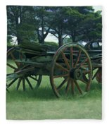 Western Wagon Fleece Blanket