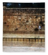Empty Western Wall Fleece Blanket