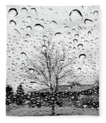 Wet Car Window B Fleece Blanket