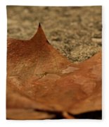 Wet Leaf Fleece Blanket