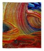 Wet Paint - Run Colors Fleece Blanket