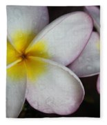 Wet Petals Fleece Blanket