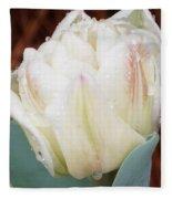 Wet Tulip Fleece Blanket