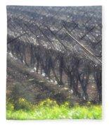 Wet Vineyard Fleece Blanket