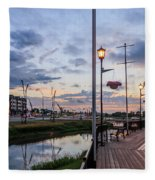 Embankment In Weyburn Fleece Blanket