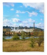 Weyerhaeuser Lumber Mill Fleece Blanket