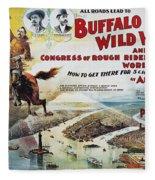 W.f. Cody Poster, 1894 Fleece Blanket