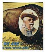 W.f.cody Poster, 1908 Fleece Blanket
