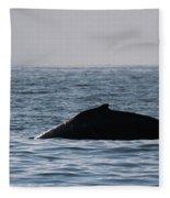 Whale Fin Fleece Blanket
