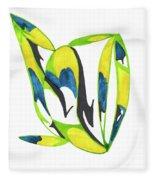 Whale Flow Fleece Blanket