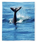 Whale Tail Fleece Blanket