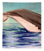 Whale Tail    Pastel   Sold Fleece Blanket