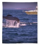 Whale Watching - Humpback Whale 3 Fleece Blanket