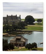 Whalehead Club And Boathouse Fleece Blanket