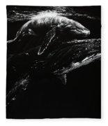 Whales Fleece Blanket