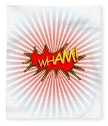 Wham Explosion Fleece Blanket