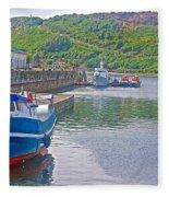 Wharf Near Angelmo Fish Market In Puerto Montt-chile  Fleece Blanket