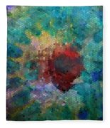 What A Bee Sees Fleece Blanket