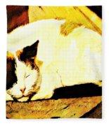 What Do Cats Dream Of Fleece Blanket