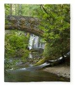 Whatcom Falls Bridge Fleece Blanket