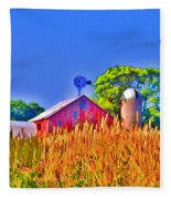 Wheat Farm Near Gettysburg Fleece Blanket